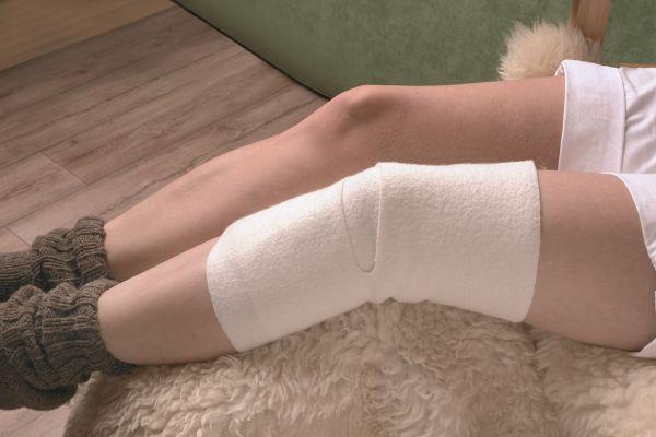 Woll-fühl® Gelenkwickel - Knie