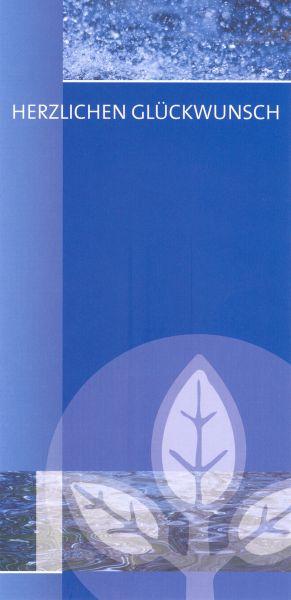 Glückwunschkarte blau, inkl. Kuvert