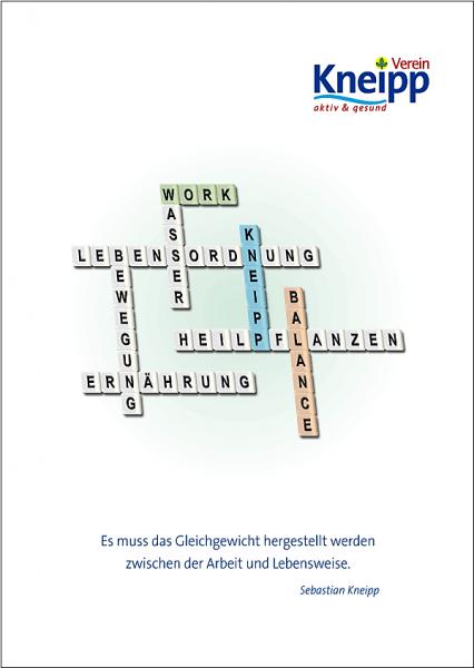 "Plakat ""Work-Kneipp-Balance"""