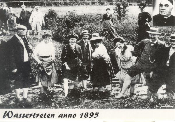 """Postkarte """"Wassertreten"""""""