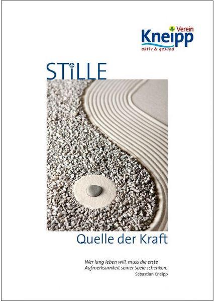 """Plakat """"Stille - Quelle der Kraft"""""""