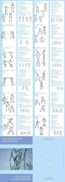 Leporello - Taiji - QiGong in 28 Schritten / Kranich QiGong