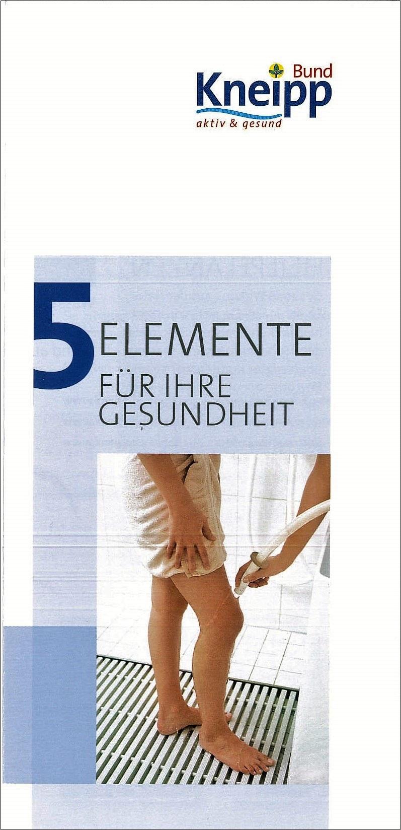 flyer 5 elemente f r ihre gesundheit gratis online shop kneipp verlag. Black Bedroom Furniture Sets. Home Design Ideas