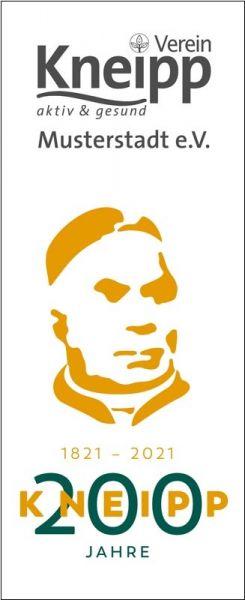 """Hissflagge """"2021"""" mit Vereins-Logo"""