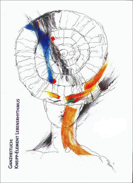 """Plakat """"Lebensrhythmus"""" modern"""