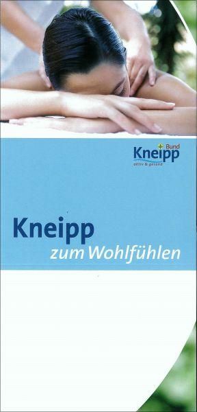 """Flyer """"Kneipp zum Wohlfühlen"""""""