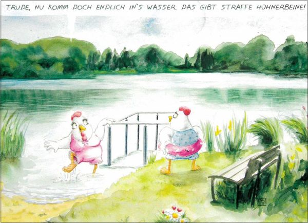 "Postkarte ""Kneippen am See"""