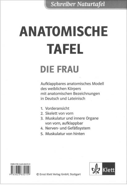 """Anatomische Tafel """"Die Frau"""""""