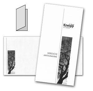 Kondolenzkarte mit Briefhülle