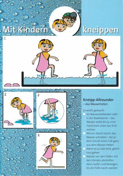 "Faltblatt ""Mit Kindern kneippen"""