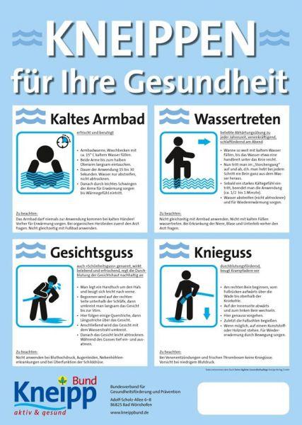 """Plakat """"Kneippen für Ihre Gesundheit"""""""