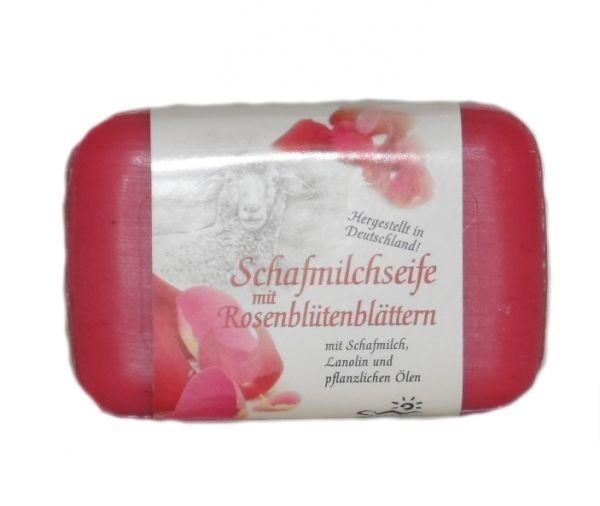 Schafmilchseife Rosenblütenblätter