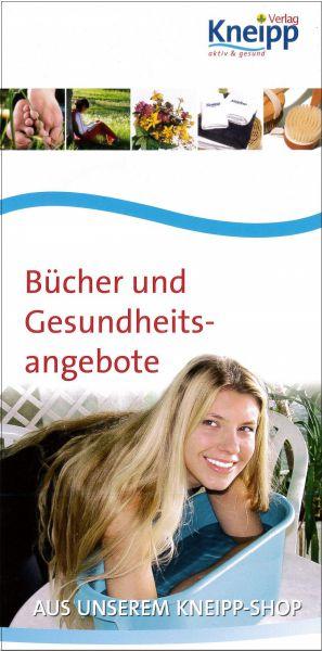 """Flyer """"Bücher und Gesundheitsangebote"""""""