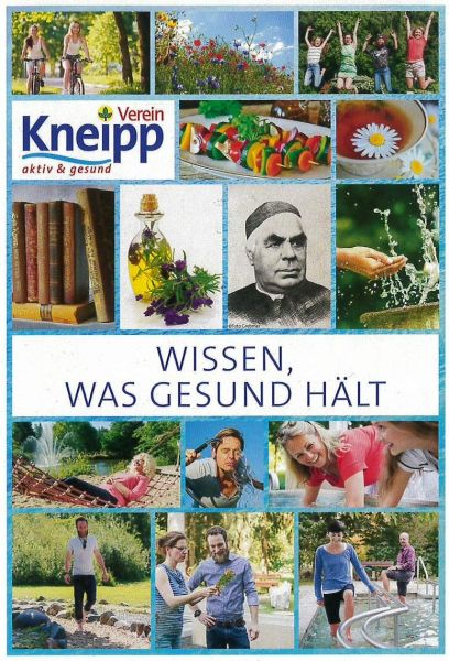 """Postkarte """"Wissen, was gesund hält"""""""